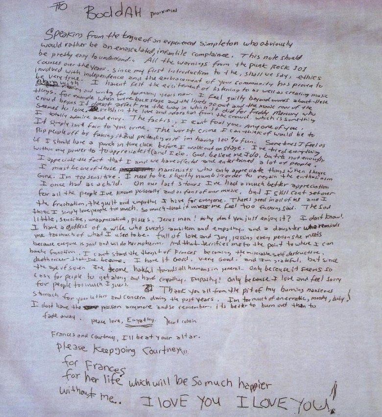 Kurt Cobain Abschiedsbrief