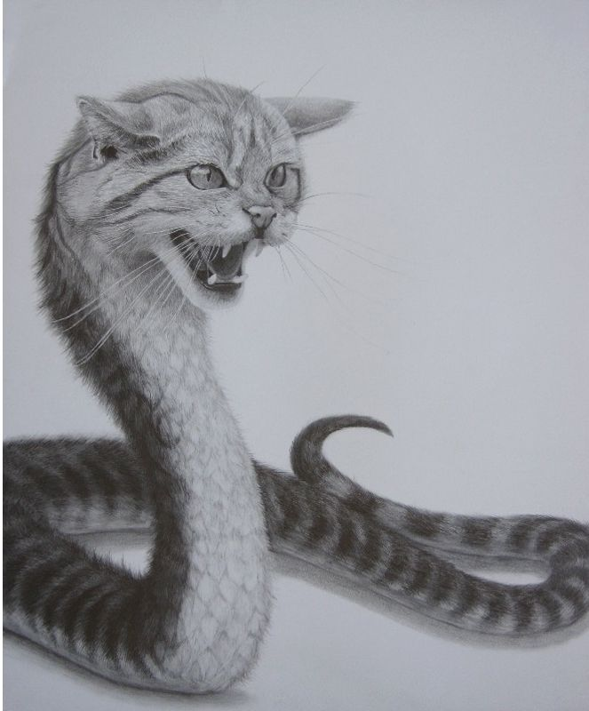 Two Animals Combined Drawing : animals, combined, drawing, Surrealism