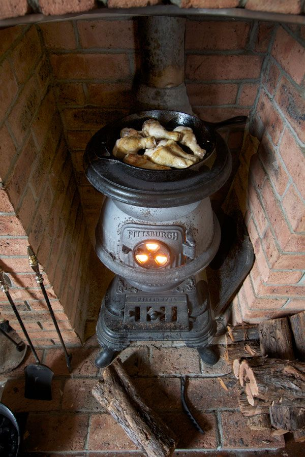 Antique stove and Woods