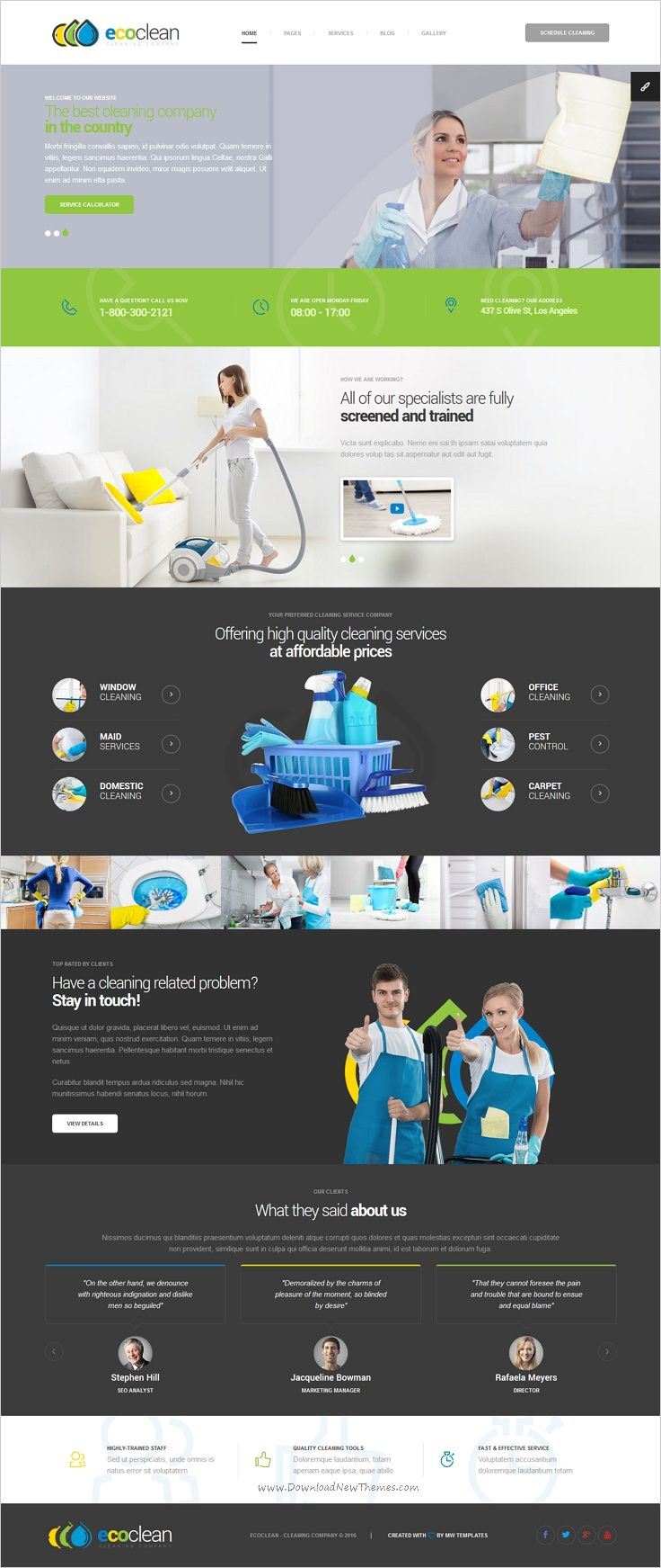 EcoClean - Cleaning company HTML Template | Cleaning companies ...
