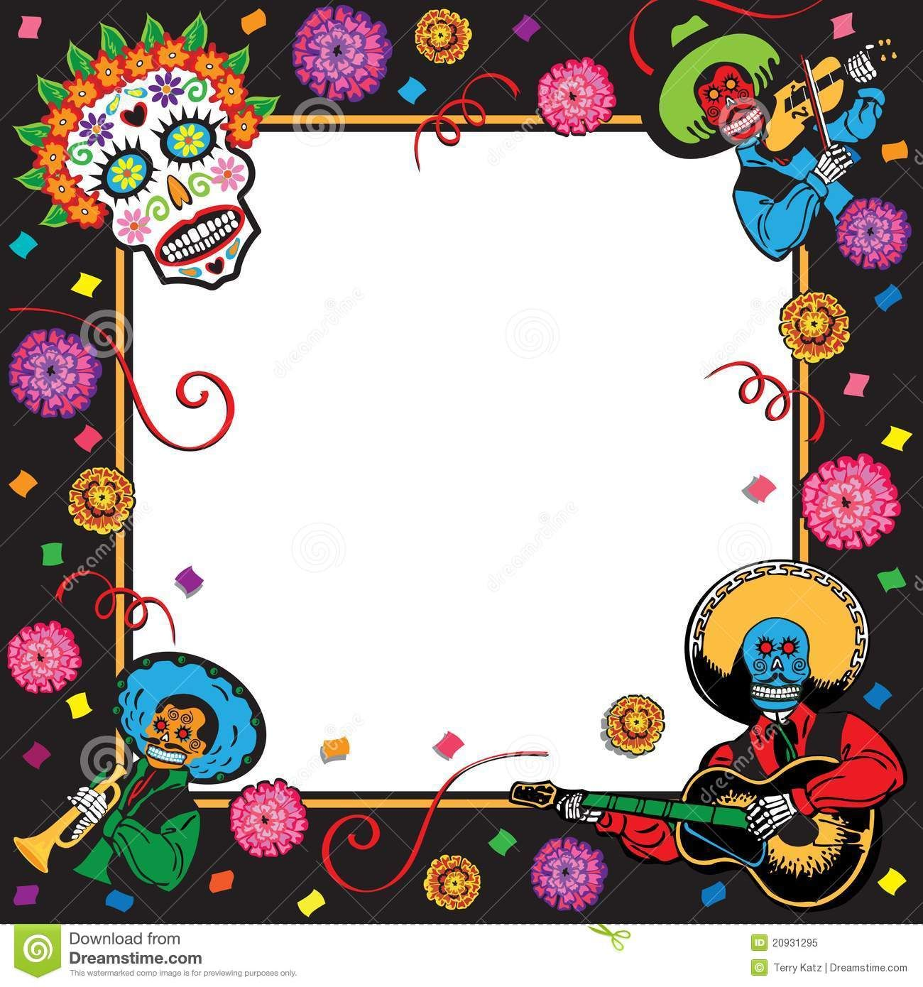 Day Of The Dead Party Invitations Party Invite Template Day Of The Dead Party Mexican Party Invitation