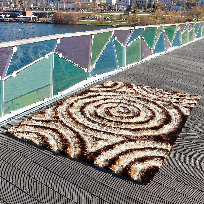 Alfombra moderna spiral 3d - Carving alfombras ...