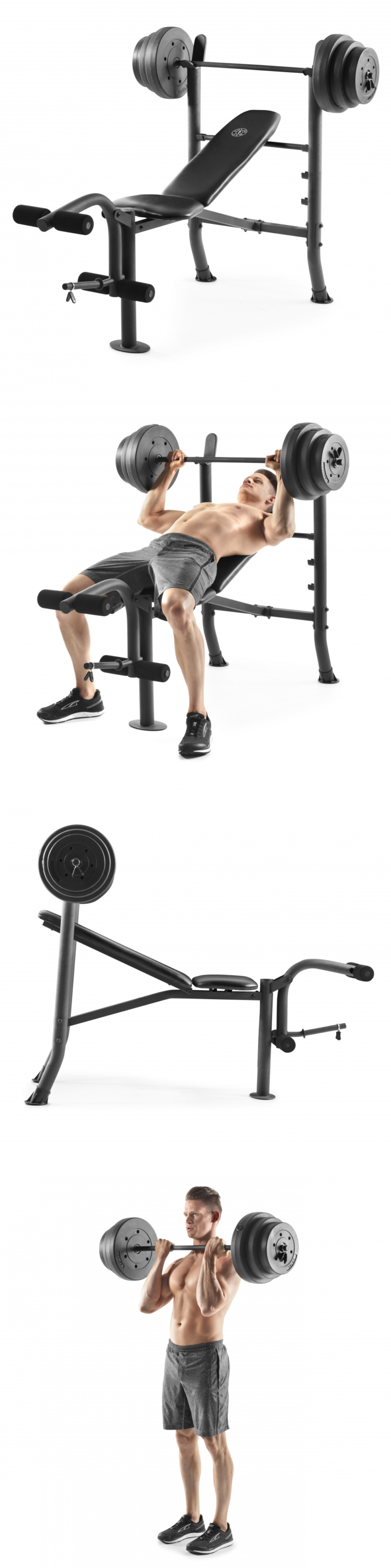 Benches 15281 Gold S Gym Xr 81 Combo Weight Bench