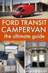 Photo of A Ford Transit is a great choice for a camper van conversion. They are cheaper t…