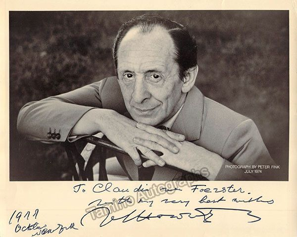 Horowitz, Vladimir - Signed Photo 1977