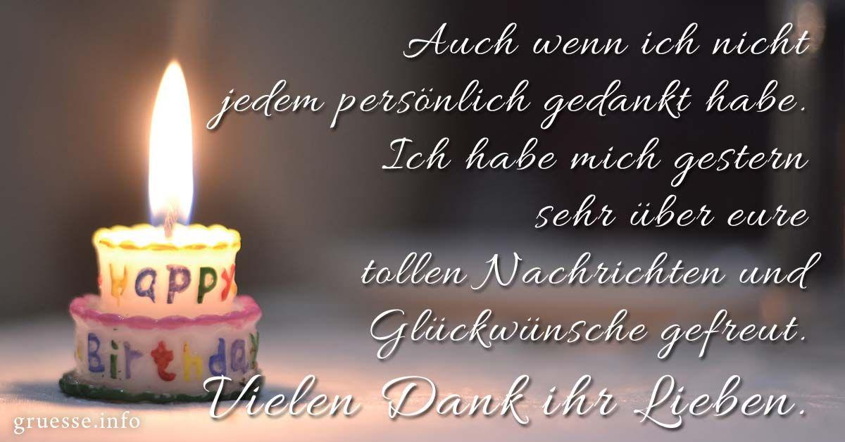Danke Für Die Glückwünsche Zu Meinem Geburtstag