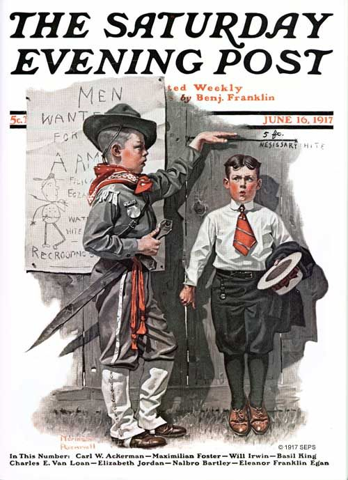 Necessary Height by Norman Rockwell The Saturday Evening Post June 16, 1917... A gift for my June 16th b-day.