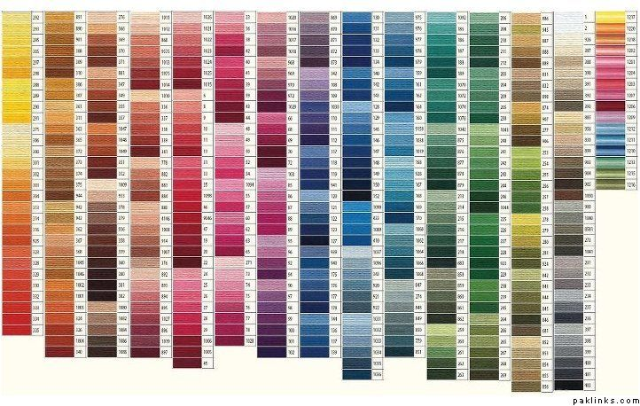 Shades of Green Color Chart Thread Tools zhome 1002 Pinterest