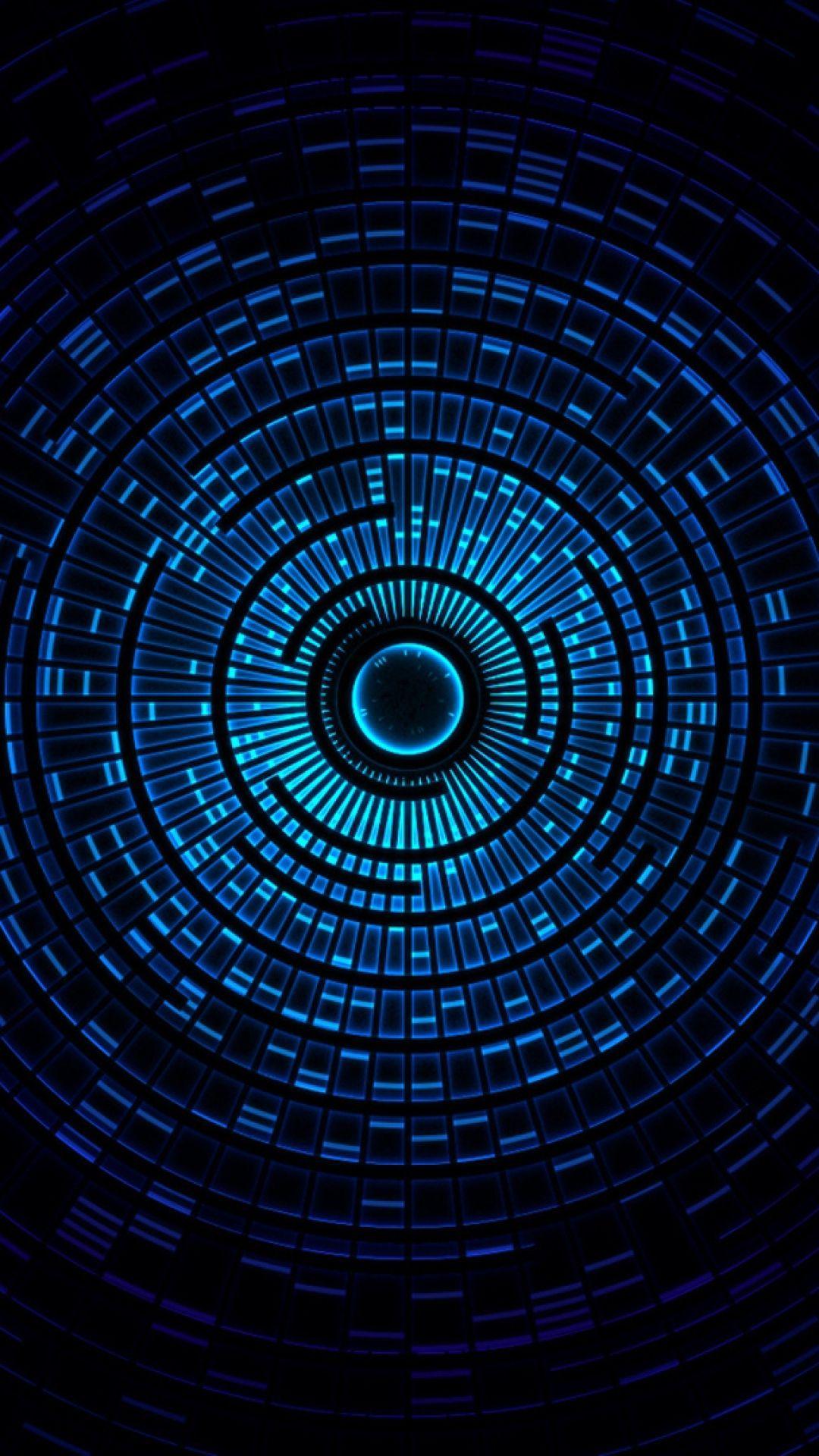 hd background blue circle