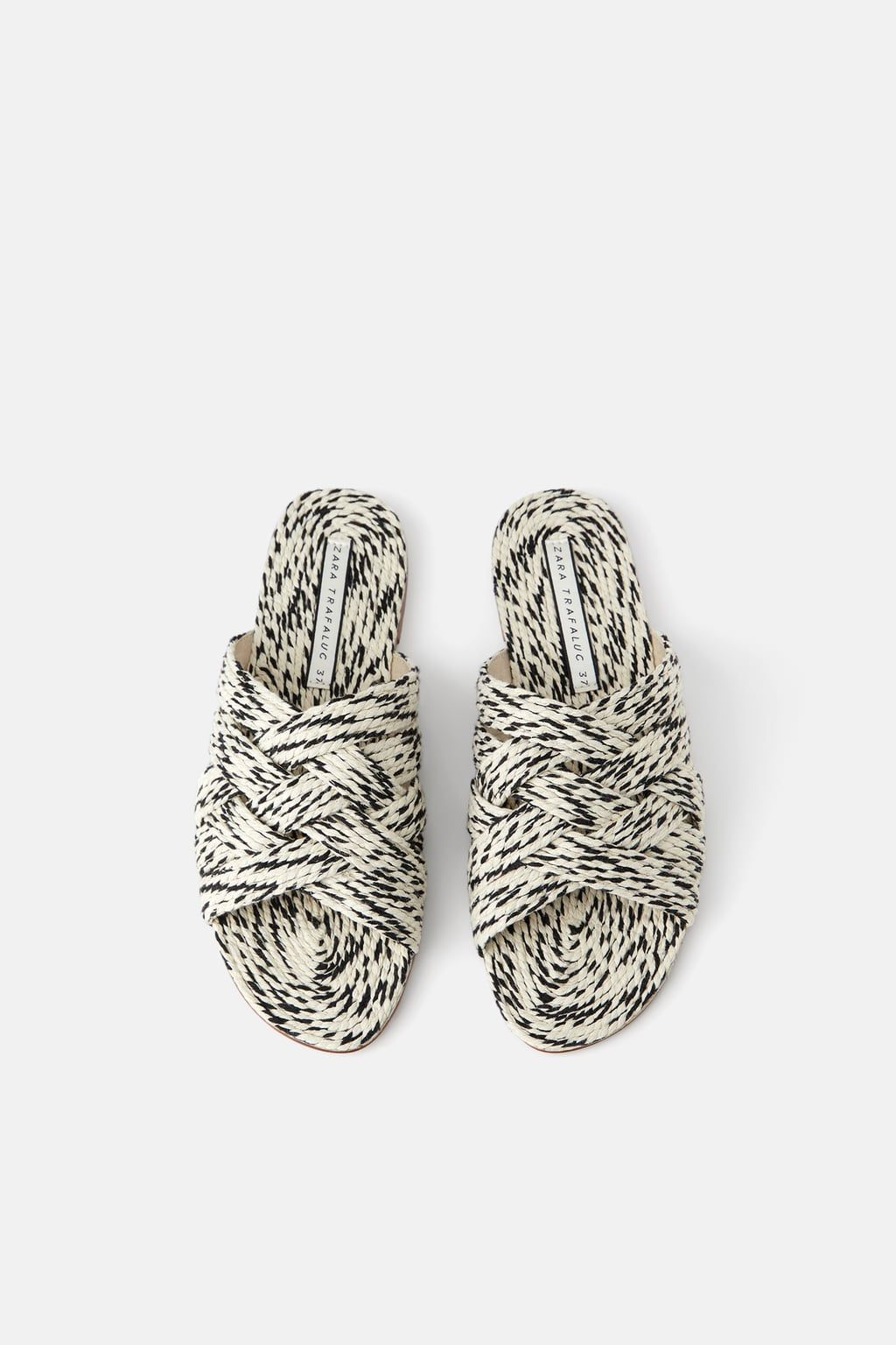 1a925edd7 Natural colored woven flat sandals in 2019 | Modern Vegan Shoes ...