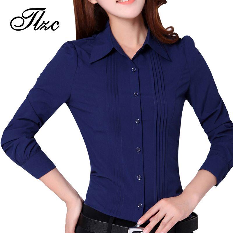 Office Lady Fashion White Chiffon Shirts Big Size S-3XL Long Sleeve Turn  Down New Korean Women Casual Blouses f56939882c8f