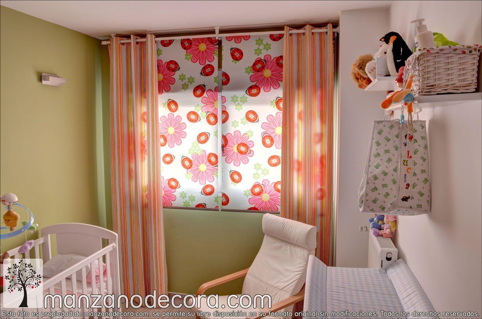 Pin de manzanodecora en estores pinterest cortinas cortinas infantiles y estores enrollables - Cortinas enrollables infantiles ...