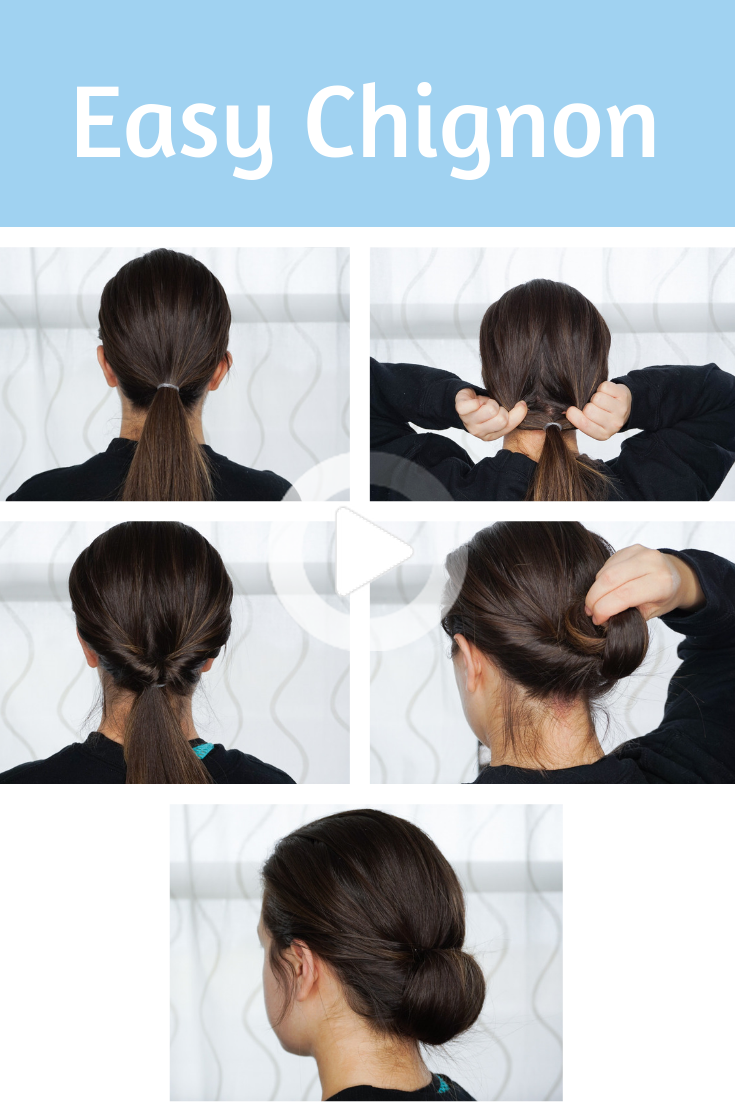 Easy Chignon Hairstyle How To In 2020 Easy Chignon Summer Hairstyles Easy To Do Hairstyles