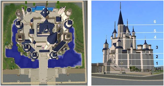 Minecraft Cinderella Castle Floor Plan