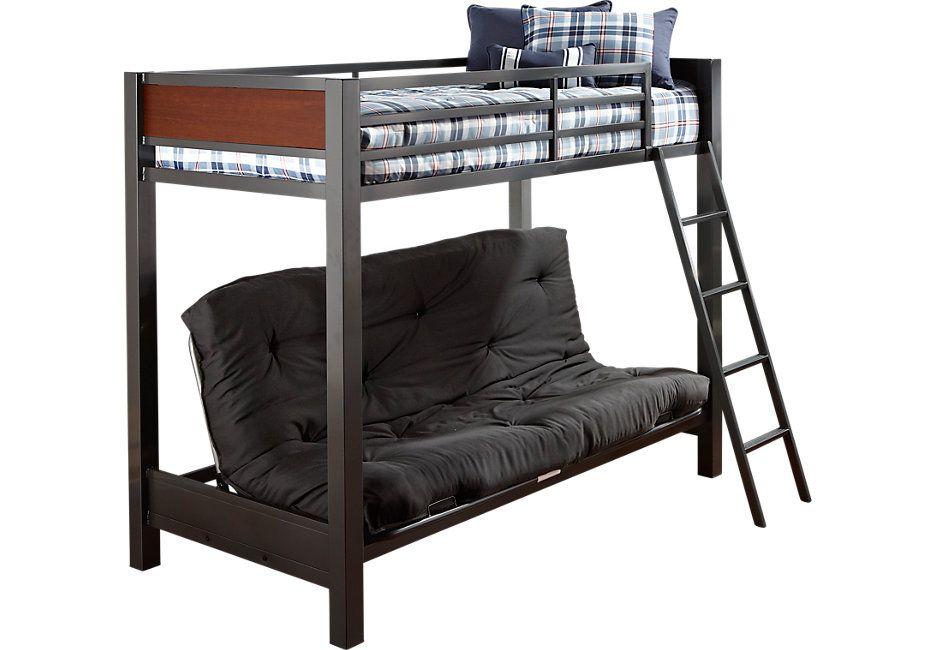 Louie Gray Twin/Futon Loft Bed