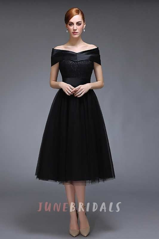 vintage style knee length classy evening dresses
