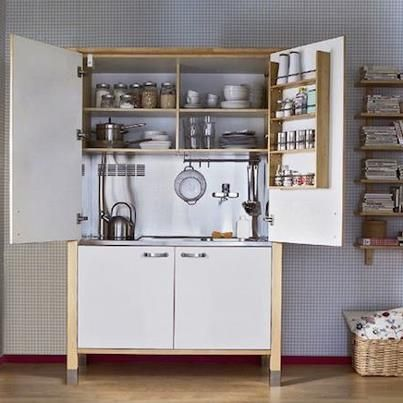 Short On Space This Tiny Kitchen Was Created With Varde Components From Small Apartment Kitchen Small Kitchen Storage Small Apartment Kitchen Storage Ideas