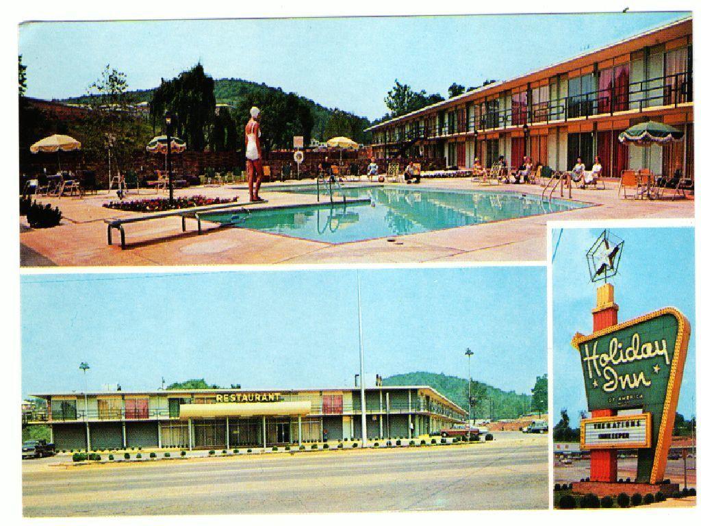 Unused Postcard Swimming Pool Holiday Inn Kingsport Tennessee Tn 3 Views Swimming Pools Holiday Inn Postcard