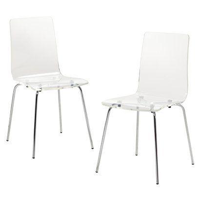 Target Acrylic Kitchen Chairs 91 00 Mid Century Modern Acrylic
