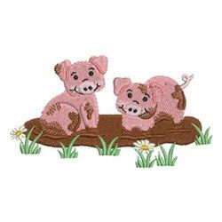 Pigs On The Farm embroidery design