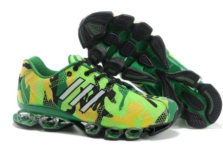 Adidas Bounce 8 Mens Camouflage Green Running Shoes adidas marathon 11  Regular Price: $190.00 Special