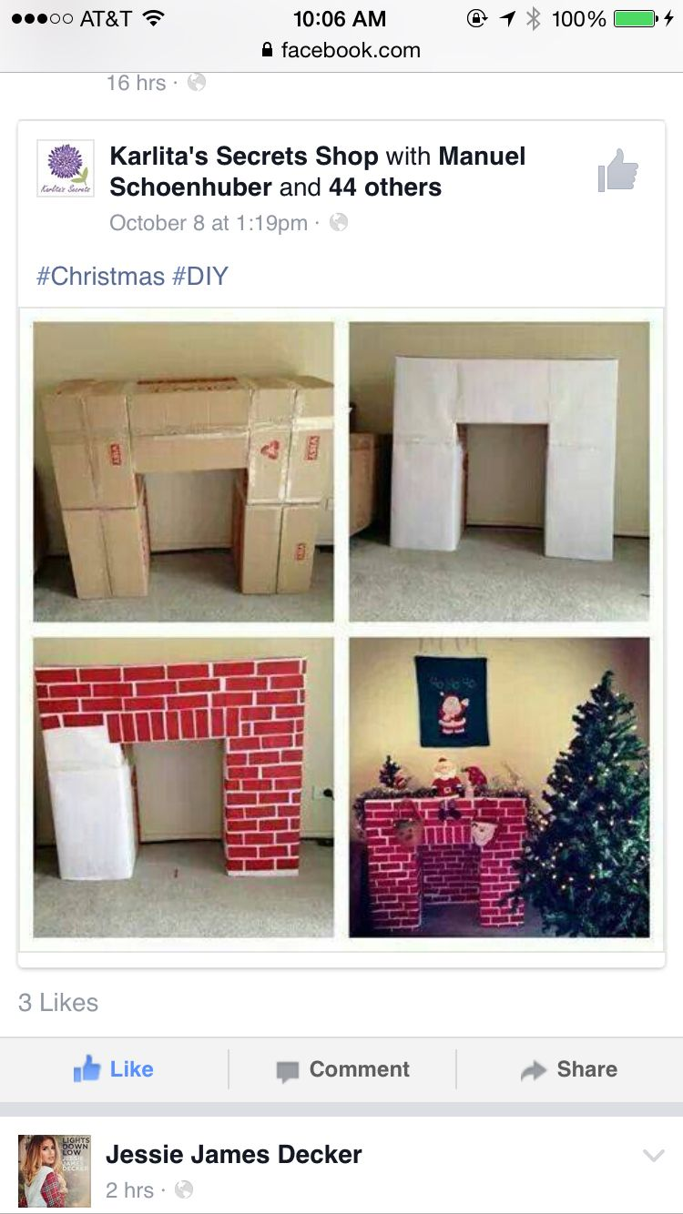The Christmas cardboard fireplace Great Christmas sites on the web