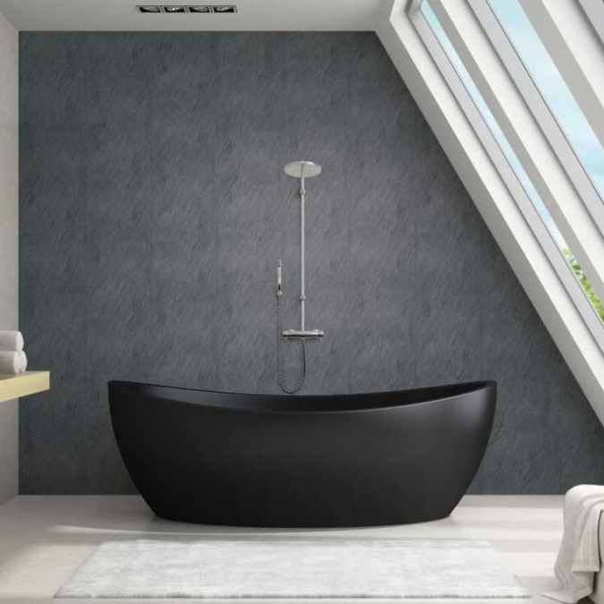 Slate Grey Plastic Upvc Wall Panels 2 4m 2 Pack Neptune 600 Pvc Wall Panels Bathroom Cladding Bathroom Design Luxury
