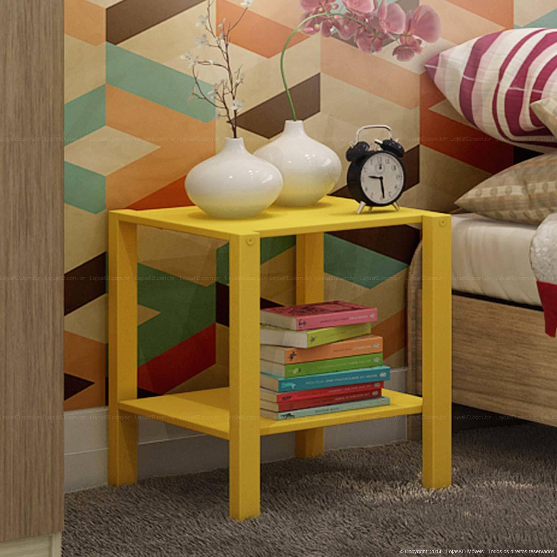 Mesa Lateral/Criado-mudo Olic Amarelo | decoração | Pinterest ...