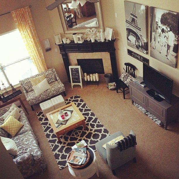 die besten 25 wohnung wohnzimmer ideen auf pinterest checkliste f rs neue heim. Black Bedroom Furniture Sets. Home Design Ideas