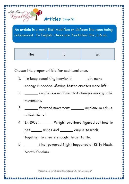 articles worksheet moon light grammar worksheets worksheets grammar. Black Bedroom Furniture Sets. Home Design Ideas