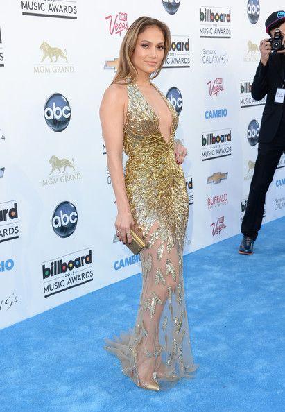 Jennifer Lopez #BestDressed Shines in Golden Zuhair Murad Gown @ billboard Music Awards 2013