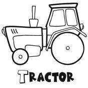 Dibujos De Medios De Transporte Para Pintar Con Los Ninos Medios De Transporte Dibujos Tractor Dibujo Dibujos De Maquinas