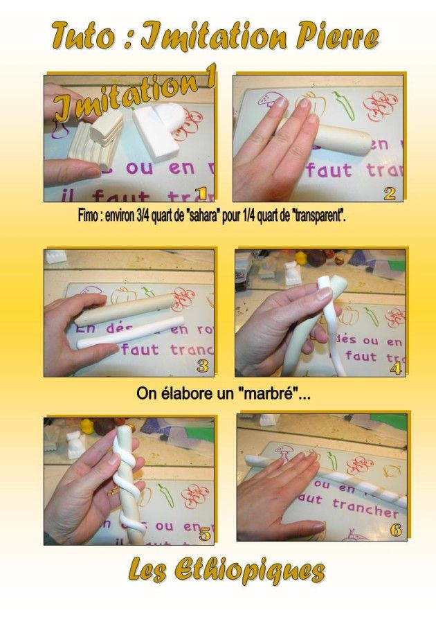 3 faux pebble tutorials- written needs translated, but there is easy to follow pictorial instructions for each one, as well.