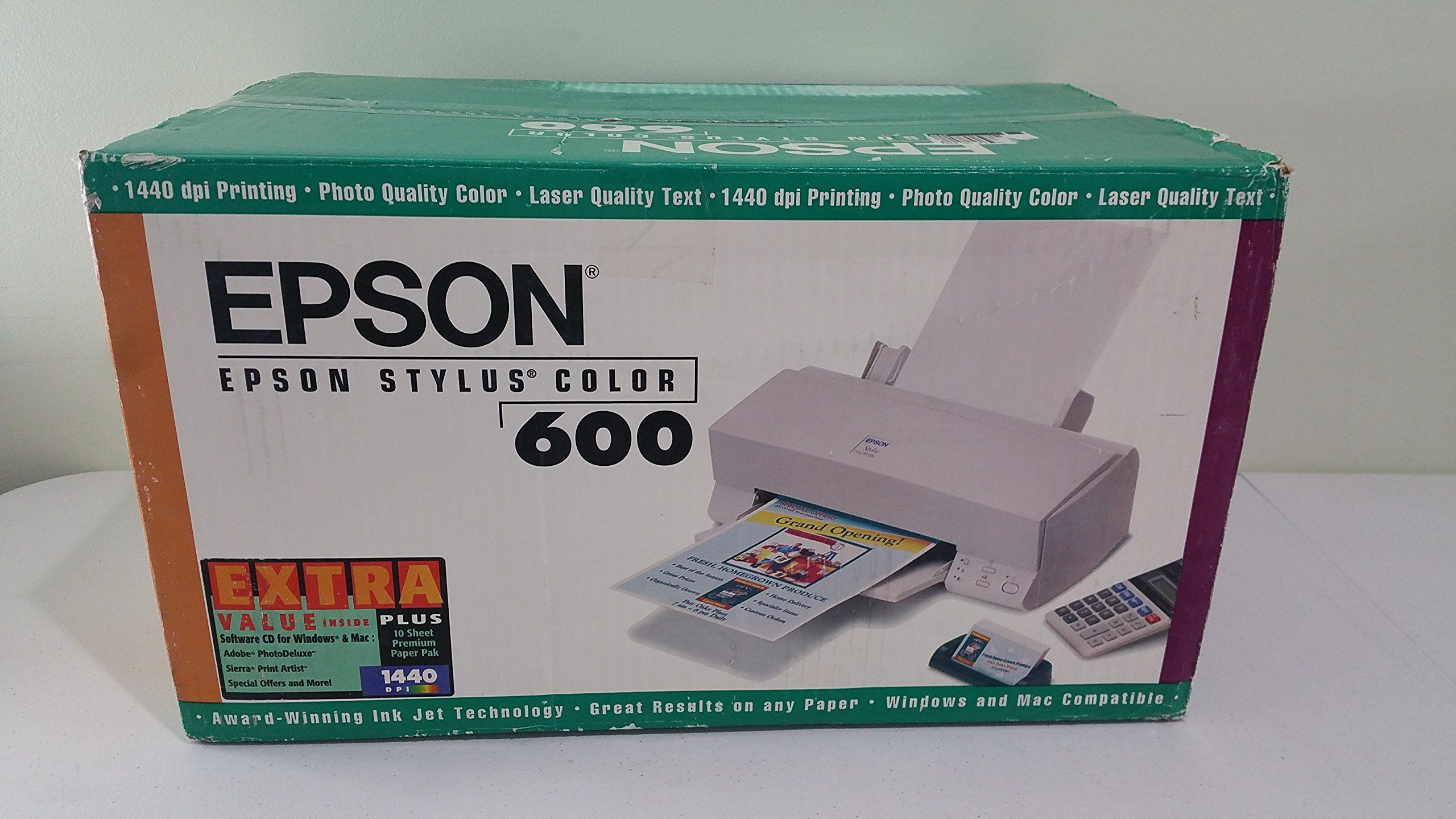 Best color printing quality - Epson Stylus Color 600 Inkjet Printer Award Winning Photo Quality Color For The Home Or