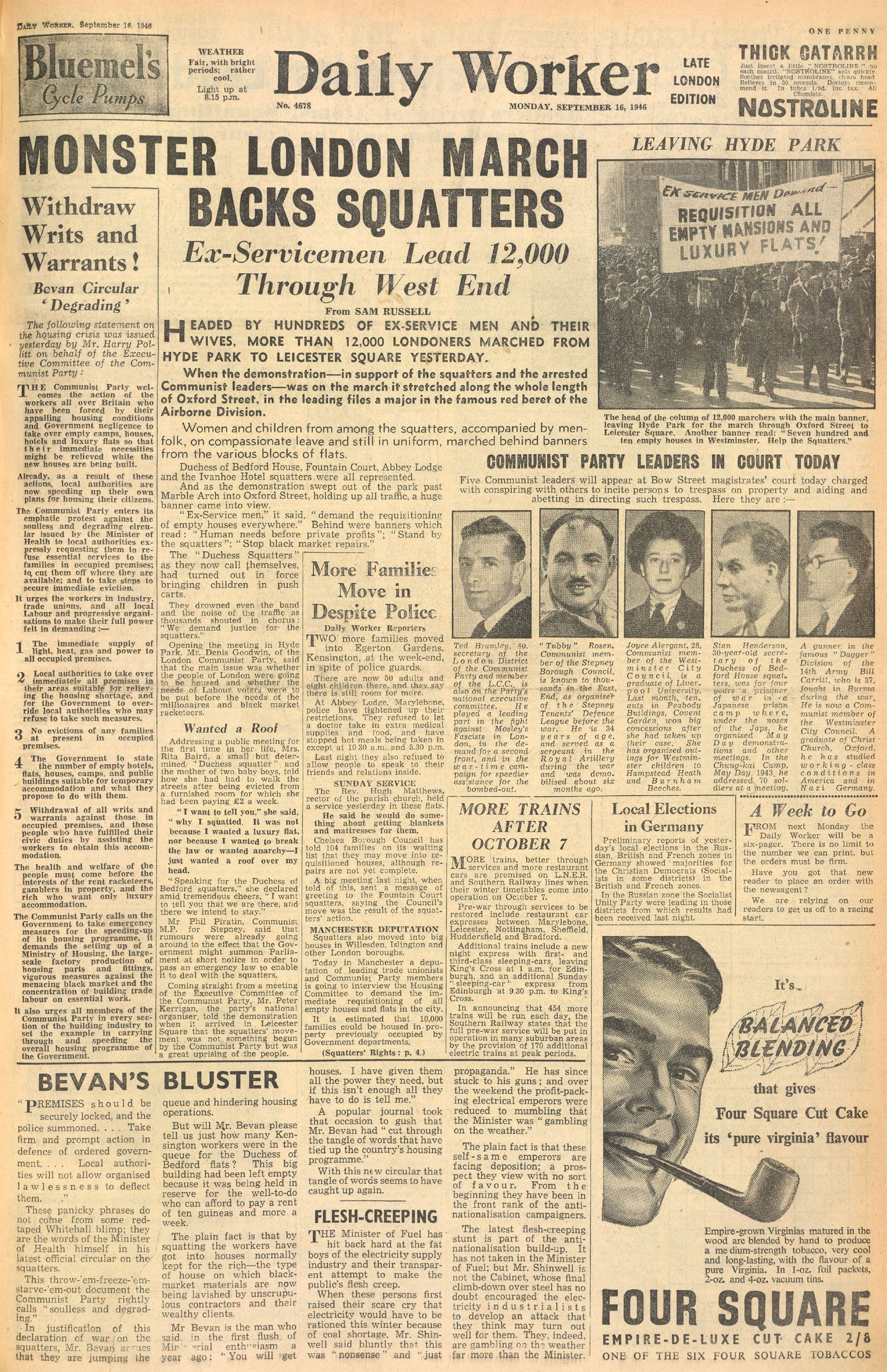 The Daily Worker September 1946 Visual Goodness
