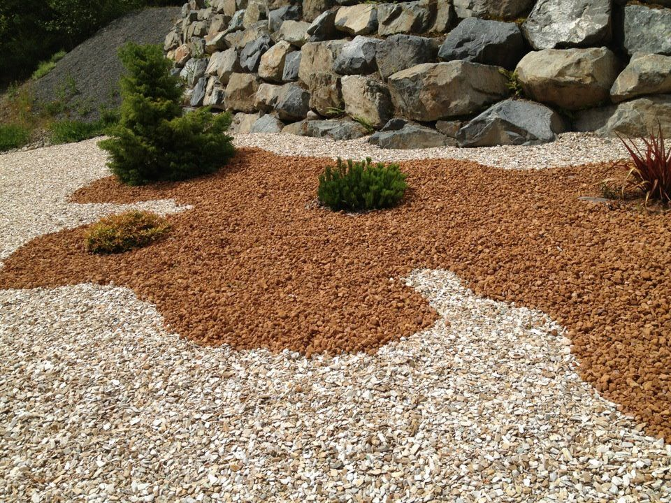 Charming Creating A Rock Garden #7   Red Lava Rock Landscaping Ideas