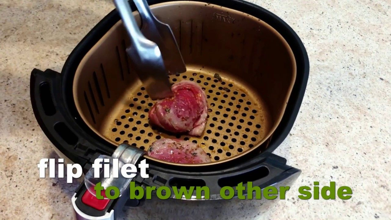 Delicious air fry bacon wrapped filet youtube bacon