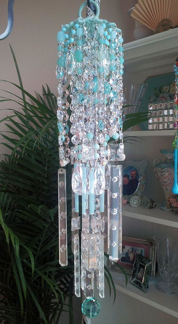 Sky Antique Crystal Wind Chime by sheriscrystals on Etsy, $234.95
