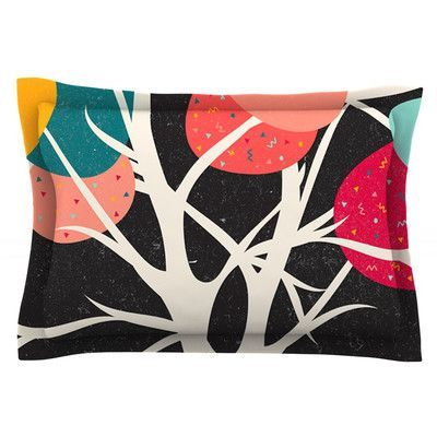 KESS InHouse Lovely Tree by Danny Ivan Featherweight Pillow Sham Size: Queen, Fabric: Cotton