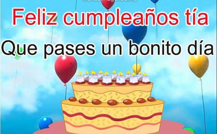 Feliz Aniversario Tia Espanol: Imágenes Bonitas De Feliz Cumpleaños Para Una Tía