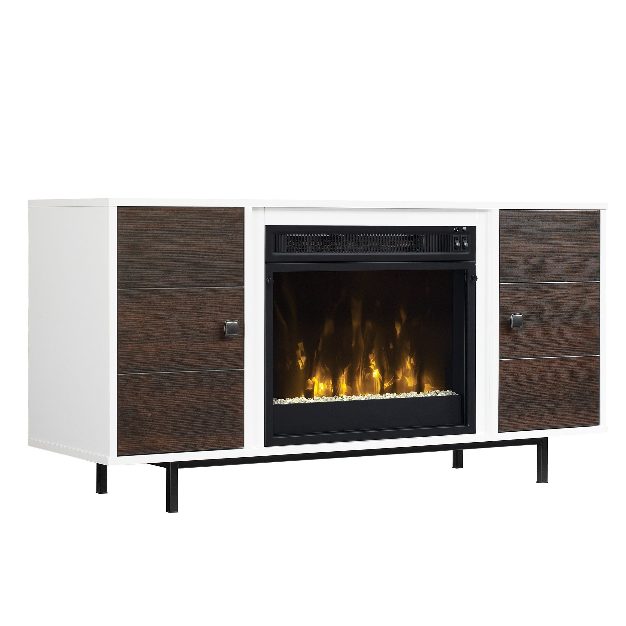 ridgeville two tone tv stand for tvs up to 55 with electric