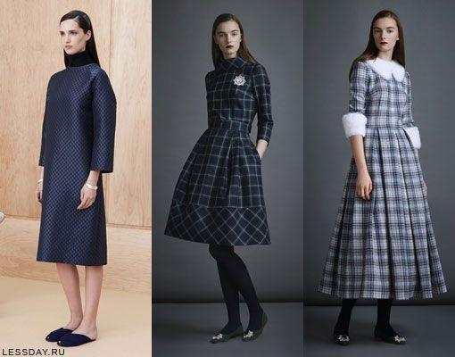 Какие модные платья на осень