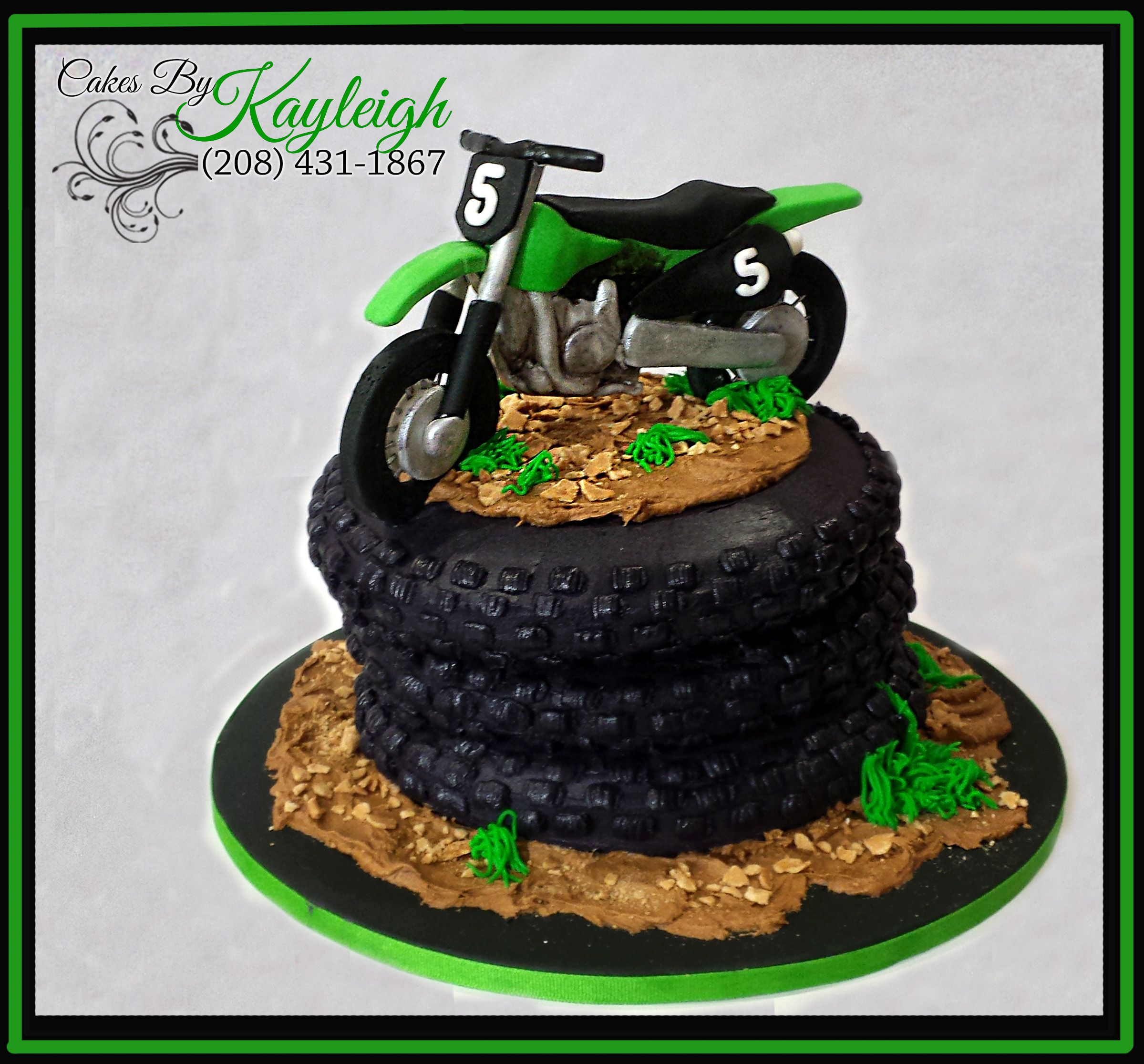 Awe Inspiring Dirt Bike Birthday Cake Fondant Dirt Bike Topper On Top Of 8 Funny Birthday Cards Online Inifofree Goldxyz