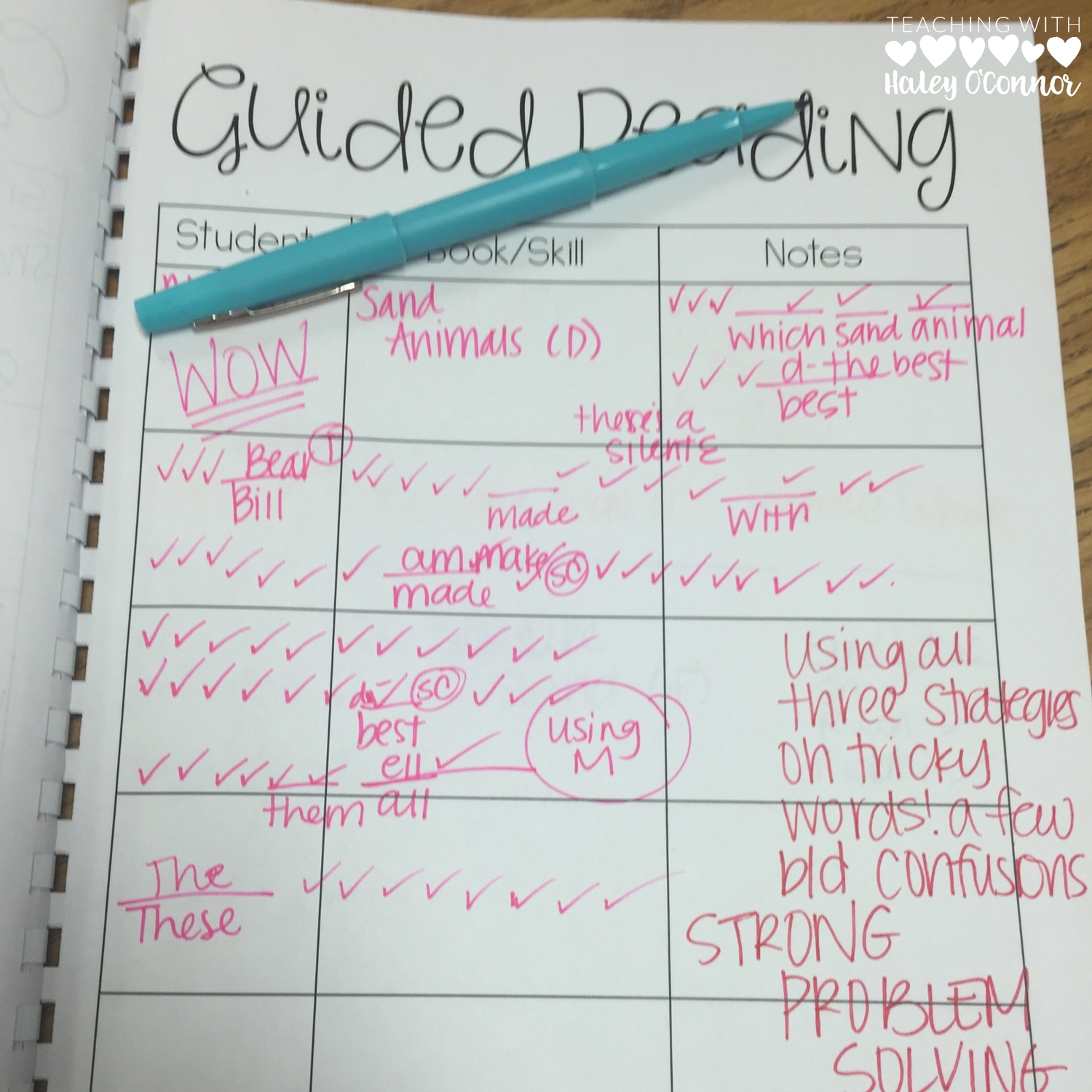 Guided Reading Notes This Teacher Bound Blank Forms For