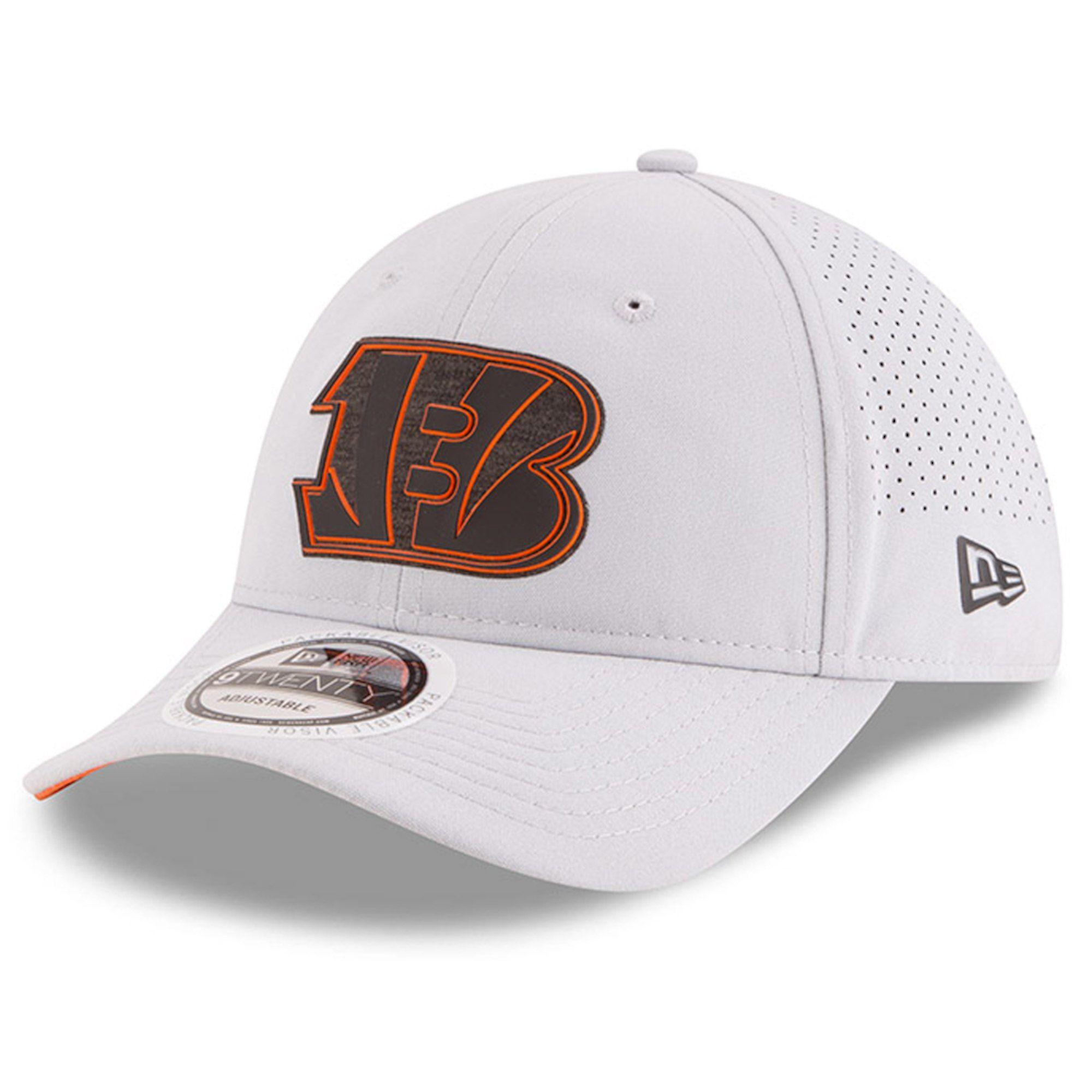 Mens New Era Cincinnati Bengals 2018 NFL Gray Training Camp Official  39THIRTY Flex Hat  214abc146