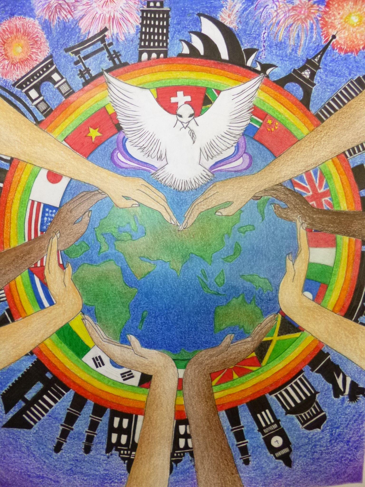 Картинки и рисунки о мире во всем мире