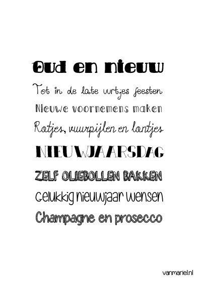 Betekenis Oud En Nieuw Quotes Buy It At Www Vanmariel Nl Poster 3 95 Card 1 25 Sinterklaas Woord Teksten
