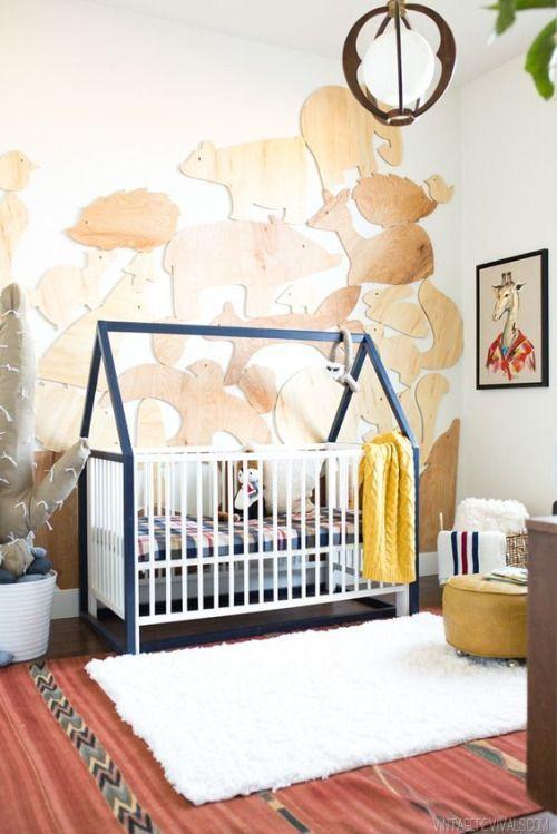 Die Holztiere An Der Wand Sind Ja Bezaubernd! | Babyzimmer Ideen | Nursery  Ideas U0026 Deco | Pinterest | Kinderzimmer, Babyzimmer Und Babyzimmer Ideen