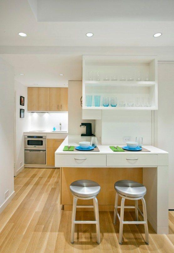 31 m² en Manhattan, New York | Cocina blanca, Piso pequeño y ...