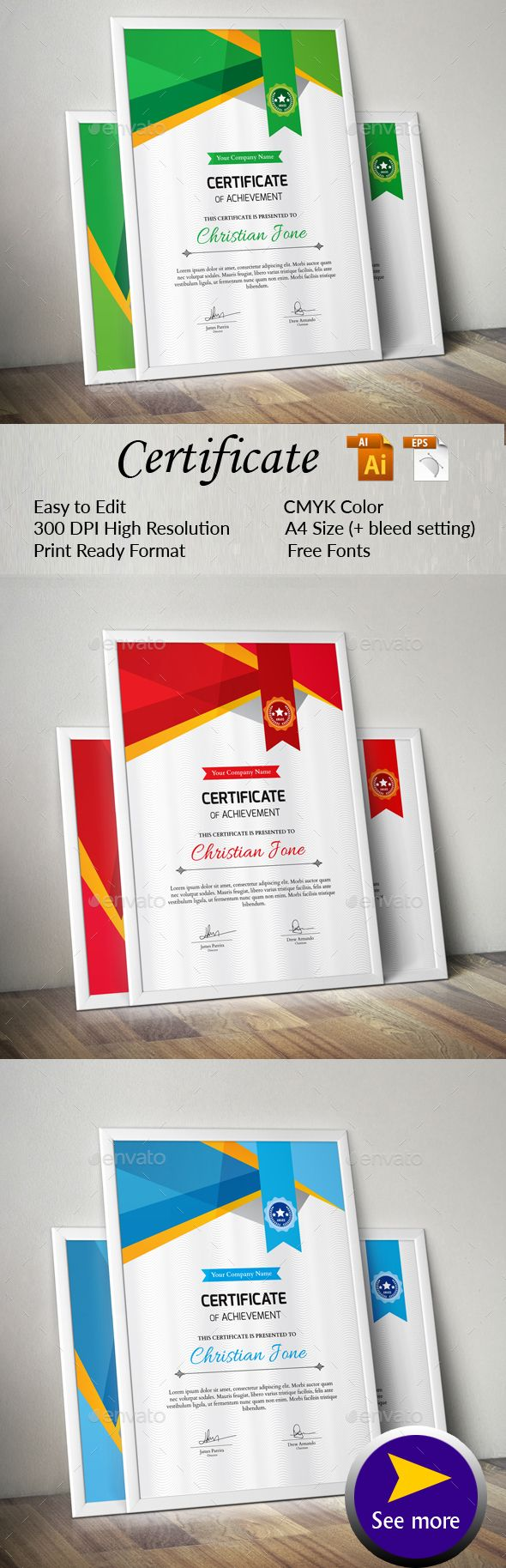 Certificate certificate templates and font logo certificate by sketchgraph a great creative certificate template for creative person features easy to xflitez Choice Image